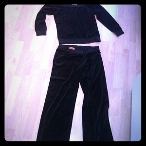 Juicy Couture Tracksuit Black No Hood